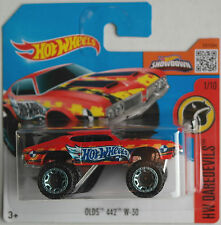 HOT Wheels-Oldsmobile/Olds 442 w-30 Rosso Nuovo/Scatola Originale