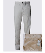 M/&S Super LIGHTWEIGHT Trousers ~ REGULAR Fit CHINOS ~ 34W 31L ~ NAVY ~ BNWT £39