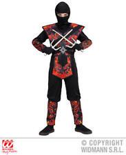 Boys Kids Childs Flaming Dragon Ninja Fancy Dress Costume Outfit 4-5 Yrs