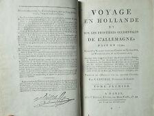 Ann RADCLIFFE : VOYAGE EN HOLLANDE / ALLEMAGNE / LANCESTER..., 1797.