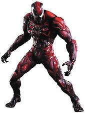 Marvel Comics Venom RED Color Variant Play Arts Kai CARNAGE Action Figure! MIB!