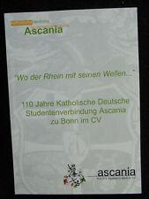 Studentika 1894-2004 110 Jahre KDStV Ascania Bonn Festschrift Chronik Cartell CV
