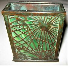 ANTIQUE L.C.T. TIFFANY STUDIOS NY USA BRONZE FAVRILE GLASS CARD CASE DECK BOX US