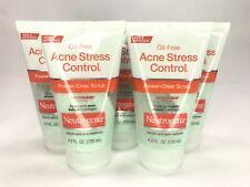 Neutrogena Oil Free Acne Stress Control Power Scrub - Lot Of 5
