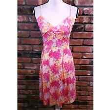 Diane von Furstenburg Sleeveless Silk Floral Midi Dress Spaghetti Straps Sz 4