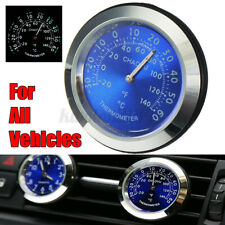 US Car A/C Vent Clip Watch Clock LED Thermometer Waterproof Perfume Refill
