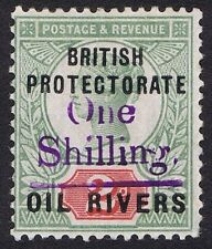 Oil Rivers 1893 1/- on 2d Grey-Green and Carmine Violet Surcharge SG37 Rare