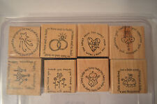 Stampin Up Figures of Speech Wood Mounted Rubber Stamp Set 8 Wedding Thank You