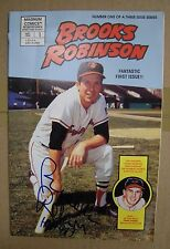 Brooks Robinson Autograph 1982 Magnum Comic Book # 1 w/ HOF 83 inscription