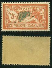 "FRANCE STAMP TIMBRE N° 145  "" MERSON 2F ORANGE ET VERT-BLEU 1907 "" NEUF xx TTB"