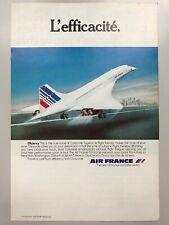 Air France Concorde 1979 Advertisement Pub Ad Werbung
