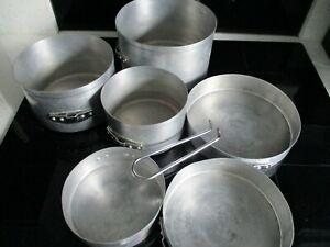 6 piece Aluminium Camping Pan Set