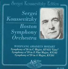 Sergei Koussevitzky: Boston Symphony Orchestra w/ Artwork MUSIC AUDIO CD Mozart