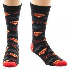 Batman Vs. Superman 1 Pair Crew Socks Bioworld DC Comics BvS Logo Symbols DoJ