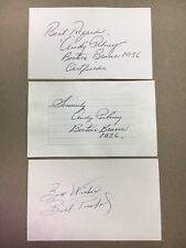 Andy Pilney 1936 Boston Braves  Signed Index Card(Top one) JSA Precertified