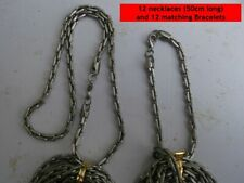 24 Mens pewter chain necklace & matching bracelet jewellery Wholesale UK STOCK