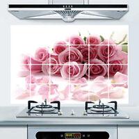 Obst Muster Küche Anti-Rauch Aufkleber Wandsticker Fliesen Sticker Dekor! C9K6