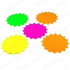 20Pc LARGE MARKET STALL DISPLAY TAGS Colour Neon Star Shop/Car Boot Price Labels