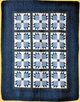 "NEW Cotton Vintage Bear Claw Design Lap Quilt Throw 50"" x 60"""
