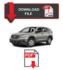 Honda CRV 2012 2013 2014 Factory Service Repair Workshop Manual