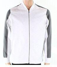 Inc Men's Colorblocked Flight/Bomber Knit Jacket Gray Heather Zip Up No Hood L