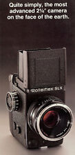 """ROLLEIFLEX SLX 2-1/4"""" CAMERA BROCHURE -ROLLEIFLEX SLX 2-1/4"""" CAMERA"""
