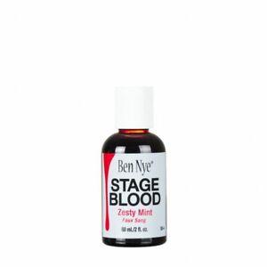 Ben Nye Stage Blood 2 fl oz / 59ml Zesty Mint Flavor fake blood