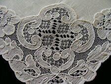"8 GORGEOUS Vtg French ALENCON Lace Linen Napkins PRISTINE Snowy White 18"""