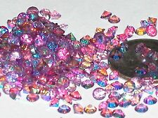 30pc Floating tiny little Crystals rhinestone gems glitter 3mm AB Light Purple *