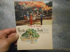 Vintage 1957 Myrtle Bank Hotel Restaurant Menu Kingston Jamacia