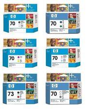 6 x Cabezal de impresión HP Designjet Z3200 Nr. 70 C9405A C9406A C9407A C9408A