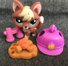 Authentic Littlest Pet Shop # 1126 Red Brown Blonde Fox Aqua Eyes w