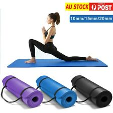 10/15/20MM Thick NBR Yoga Mat Pad Nonslip Exercise Fitness Pilate Gym Mats NEW