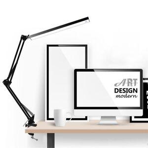Led Table Lamp Aluminum Alloy Folding Clip-on Usb Long Arm Touch Control Desk