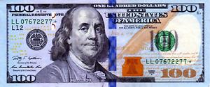 ✯ ERROR Very Rare $100 Hundred Dollar Federal Reserve STAR NOTE Bill ✯ - 089