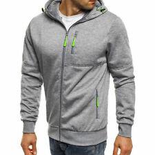 Men's Winter Hoodies Sweatshirt Outwear Sweater Coat Jacket light grey Size 3XL