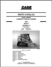 Case 450 & 450CT (Series 3) Skid Steer Loader Parts Manual on a CD