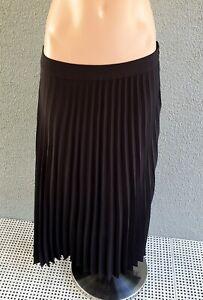 💜 BARDOT Occasion Pleated A-Line Midi Skirt Black Size 12 Buy7=FreePost L907