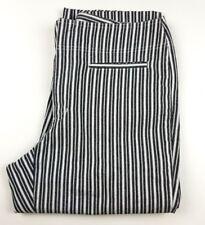 Liz Claiborne  LizWear Jeans Michaela Black & White Striped Capris Size 14 EUC!