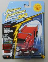 1965 Shelby Cobra Daytona Coupe Burgundy JOHNNY LIGHTNING DIE-CAST 1:64