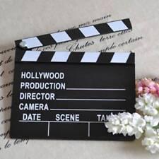 Wooden Director Photo Scene Clapperboard Movie Clapper Board Film Cut Prop Tools