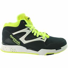 Reebok Pump Omni Lite Mens Basketball Shoes 9.5 Dark Blue Navy Neon Yellow a51f8f69c