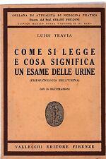 L. Travia Come si legge cosa significa un esame delle urine Vallecchi 1947 5931
