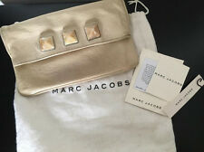Marc Jacobs Ivory leather stone/studs clutch