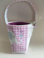 Bolsa para botella aislada de bebé, bebé Biberones Térmico En Rosa Elefante Hule