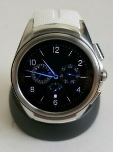 LG WATCH URBANE 2ND EDITION 4G LTE W200A 44.5mm STAINLESS STEEL CASE WHITE BAND