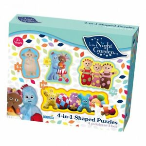 In The Night Garden 4 In 1 Kids Jigsaw Puzzle Education Game Learning age 2+ NEW