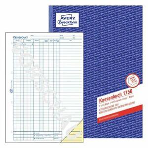 Zweckform 1756 Kassenbuch A4 2x40 Blatt SD