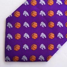 Kansas State Wildcats Basketball Purple Tie by Rivitz of Boston