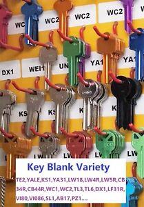 Household Key Blank Variety Key Blanks LW4,LW5,TE2,YA1E,WC2,KS1,LW4R,LF6,CB6,etc